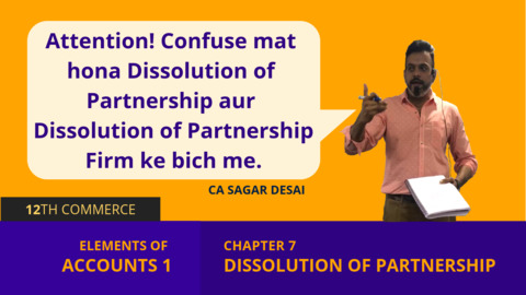 Chapter 7: Dissolution of Partnership