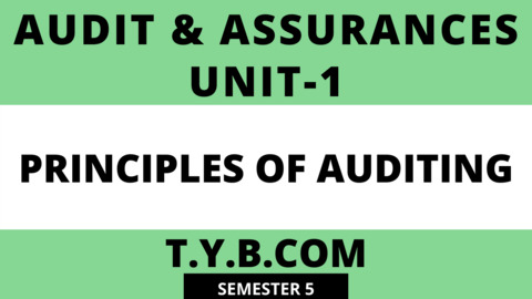 Unit-1 Principles of Auditing