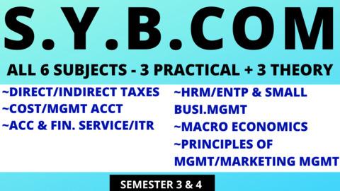 SY BCOM - SIX SUBJECTS