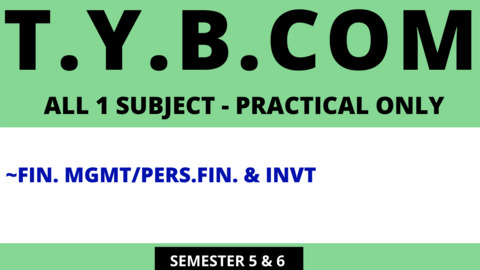 TY BCOM - ONE SUBJECT