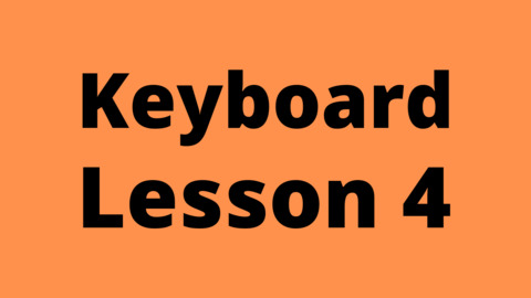 Keyboard Lesson 4: Scale Construction