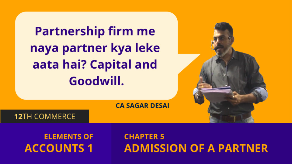 Chapter 5: Admission of a Partner