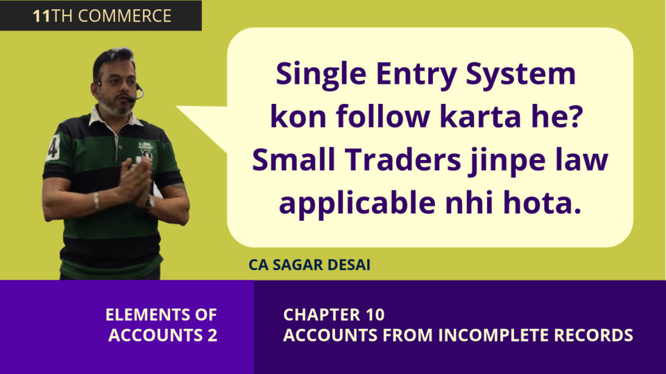 Chapter 10: Accounting from Incomplete Records