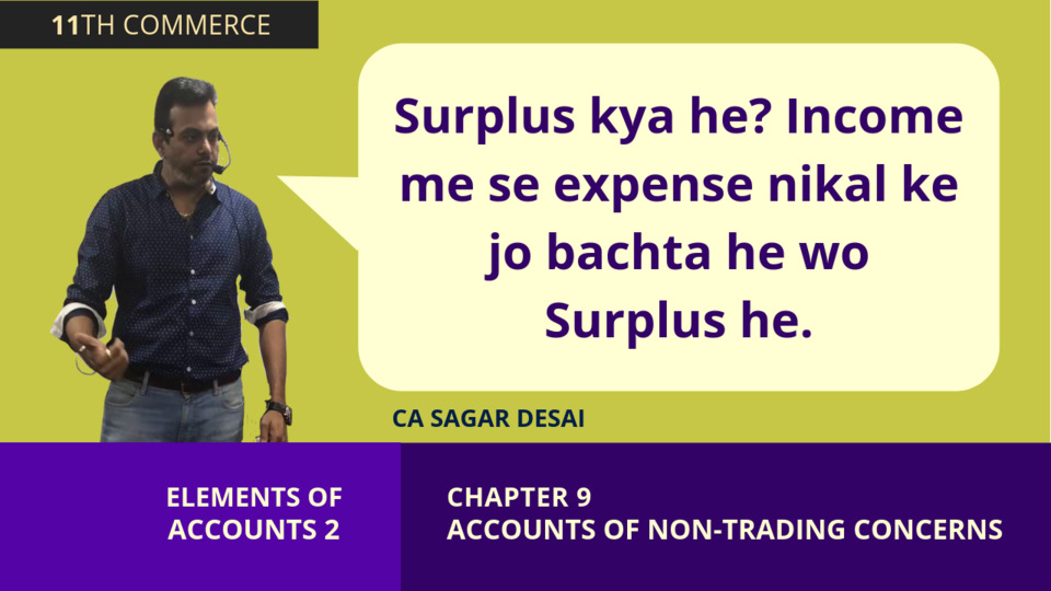 Chapter 9: Non Trading Concern