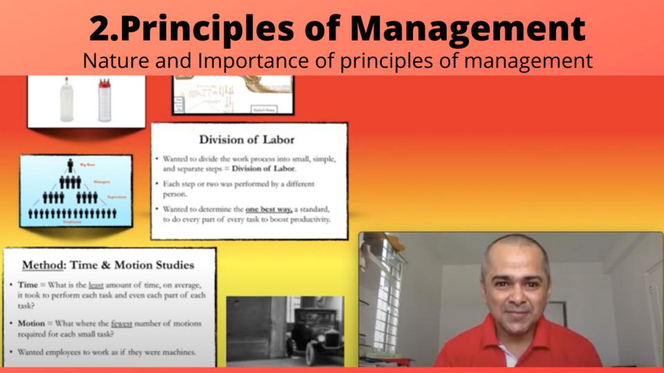 Ch 2: Principles of Management