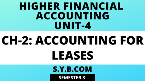 Unit-4 Ch-2 Accounting for Leases