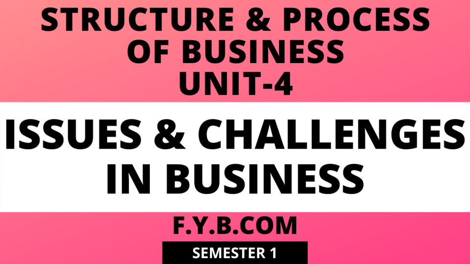 Unit-4 Issues & Challenges in Business
