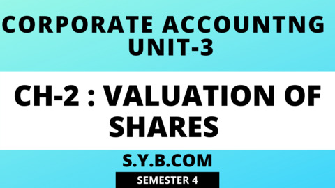 UNIT-3 CH-2 Valuation Of Shares