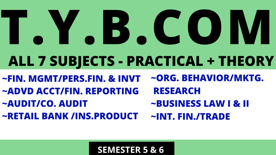 TY BCOM ALL SUBJECTS