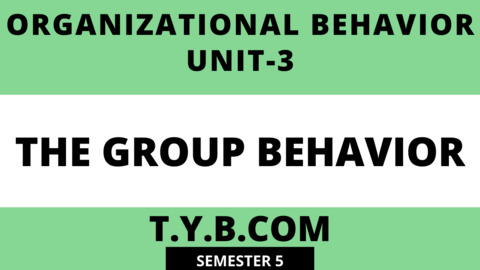Unit-3 The Group Behavior