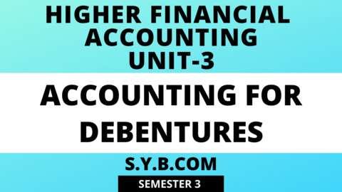 Unit-3 Accounting for Debentures