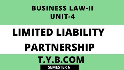 Unit-4 Limited Liability Partnership