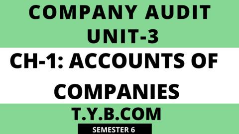 UNIT-3 CH-1 Accounts Of Companies