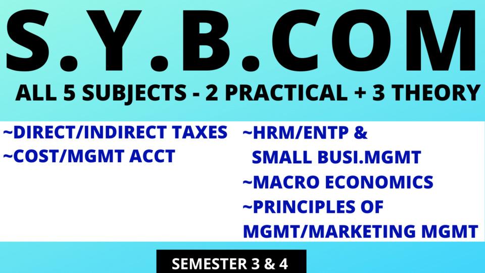 SY BCOM - FIVE SUBJECTS (COMPULSORY)