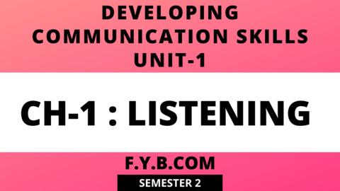 UNIT-1 CH-1 Listening