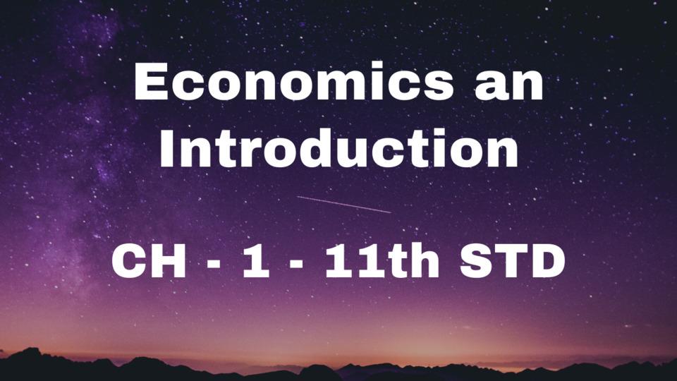 CH 1 - Economics an Introduction