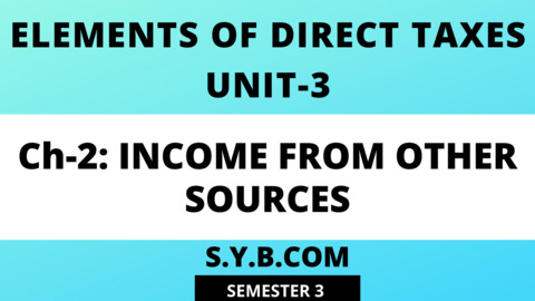 Unit-3 Ch-2 Income from Other Sources
