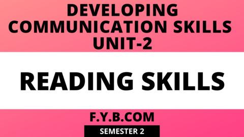 Unit-2 Developing Communication Skills
