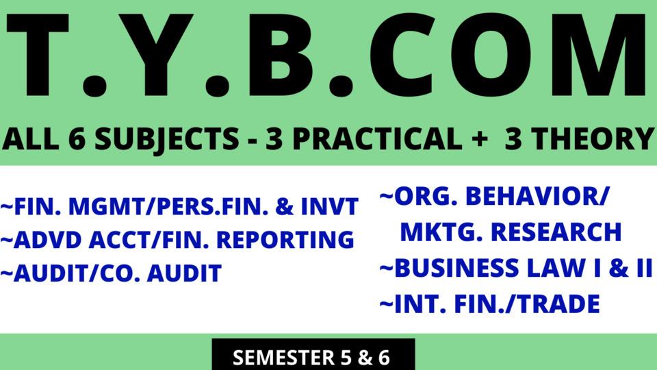 TY BCOM - SIX SUBJECTS