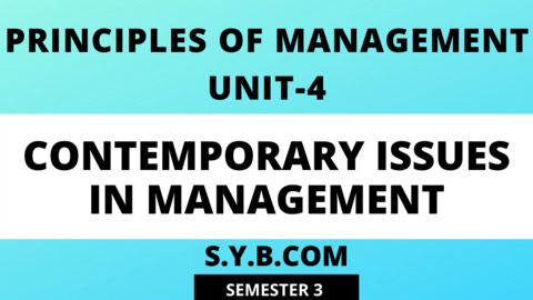 Unit-4 Contemporary Issues in Management