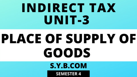 Unit-3 Place of Supply of Goods
