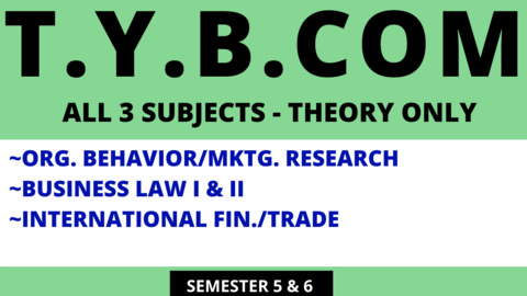 TY BCOM ALL 3 THEORY SUBJECTS