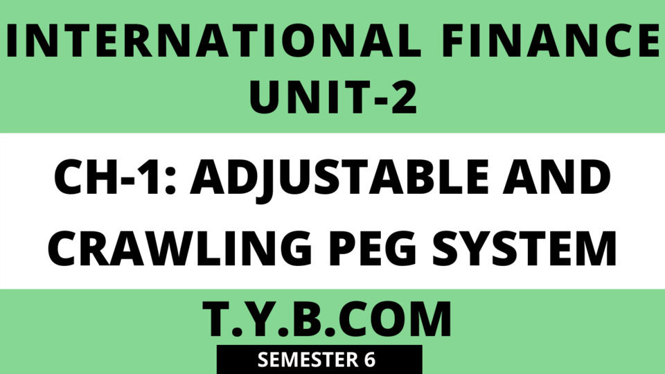 UNIT-2 CH-1 ADJUSTABLE AND CRWALING PEG SYSTEM