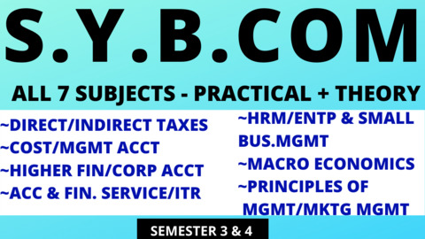 SY BCOM ALL SUBJECTS