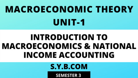 Unit-1 Introduction to Macroeconomics & National Income Accounting