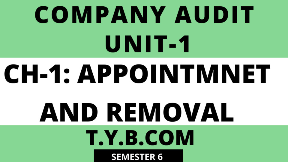 UNIT-1 CH-1 Appointment and Removal