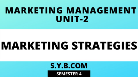 UNIT-2 Marketing Strategies
