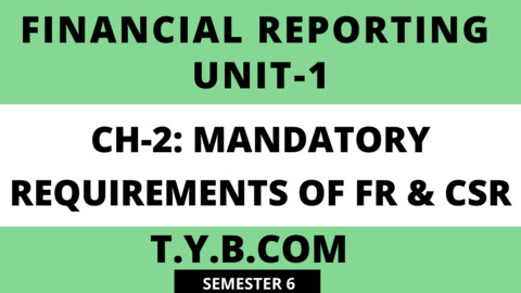 UNIT-1 CH-2 Mandatory Requirement of FR And CSR