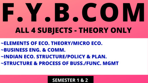 FY BCOM - THEORY SUBJECTS