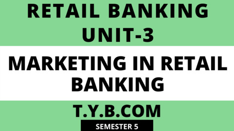 Unit-3 Marketing in Retail Banking
