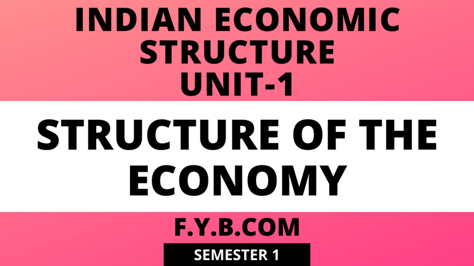 Unit-1 Structure of the Economy
