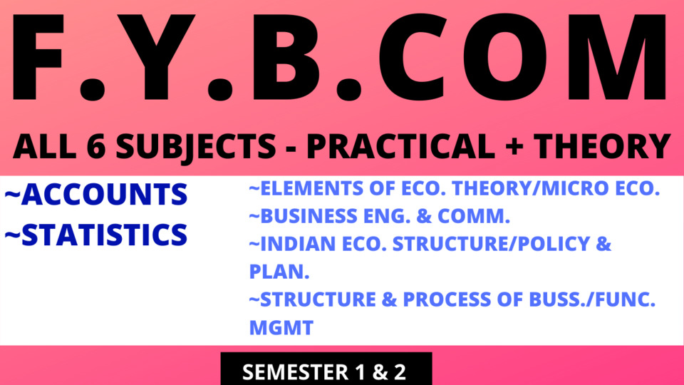 FY BCOM ALL SUBJECTS