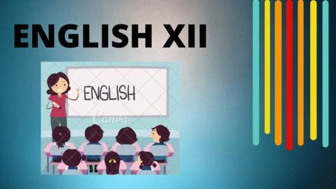 XII ENGLISH