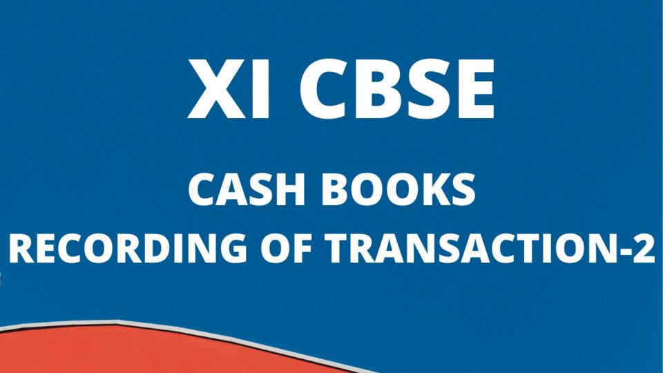 CASH BOOKS