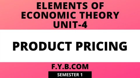 Unit-4 Product Pricing