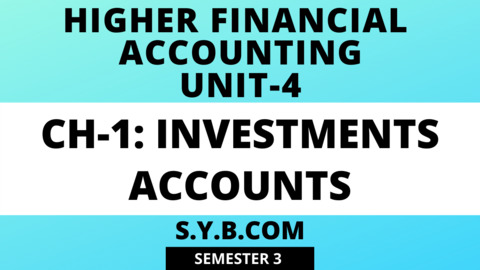 Unit-4 Ch-1 Investment Accounts