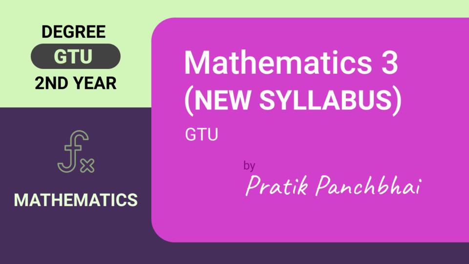 MATHEMATICS-III (New Syllabus)