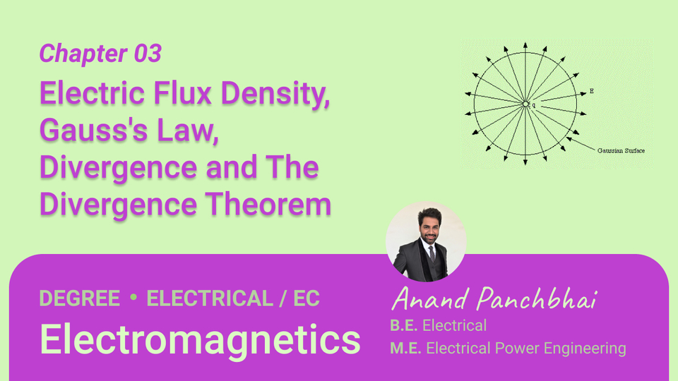 Chapter 03: Electric Flux Density, Gauss's Law, Divergence and The Divergence Theorem