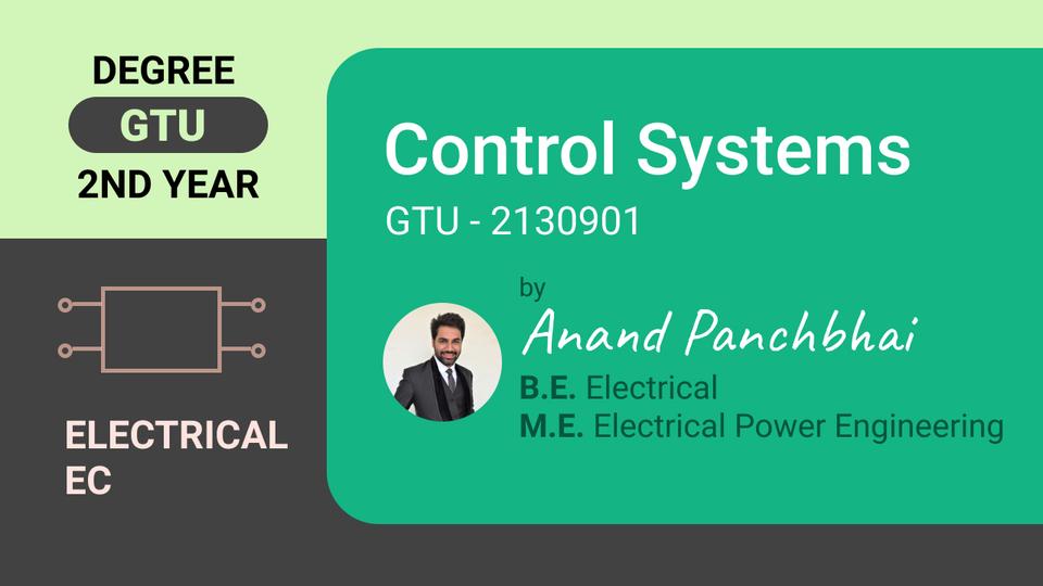 Control Systems (GTU - 2130901)