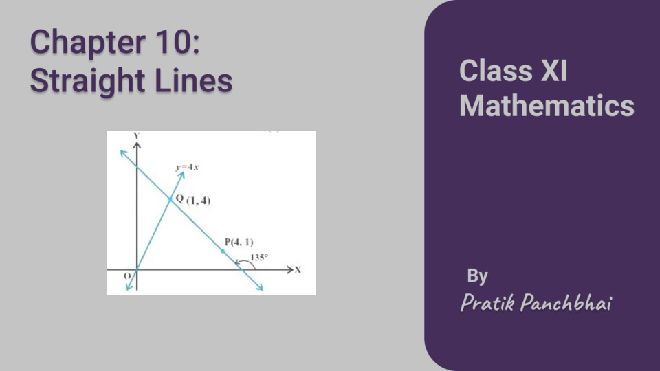Chapter 10: Straight Lines