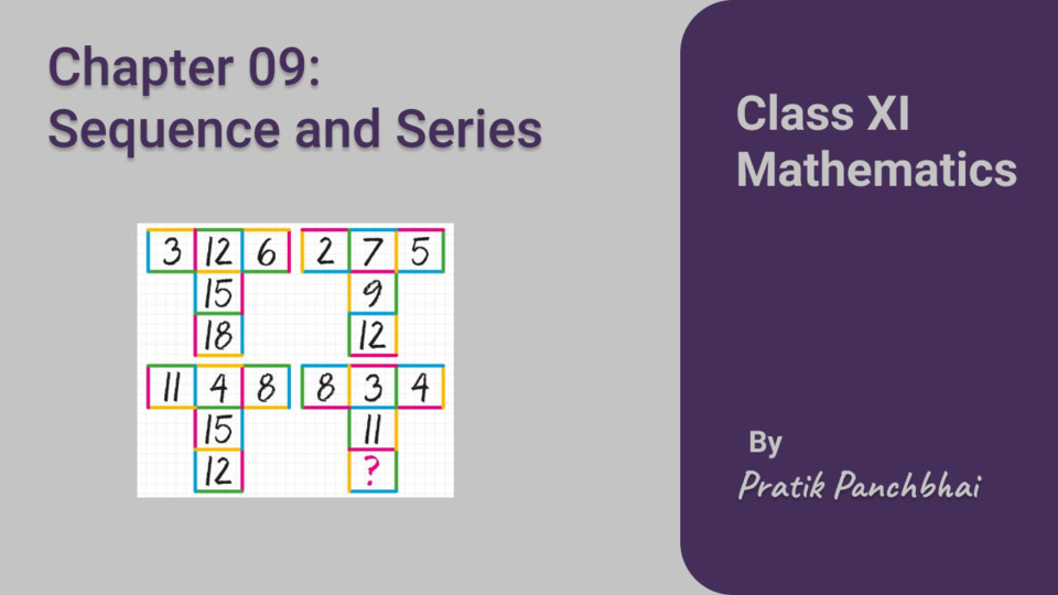 Chapter 09: Sequence and Series