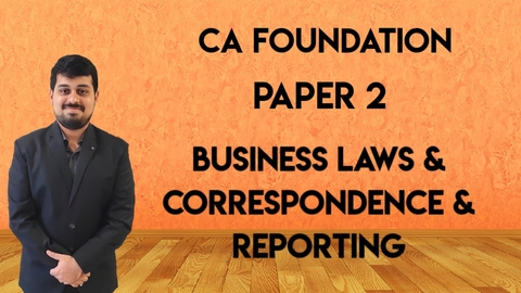 CA Foundation - Paper 2 - Business Laws - Nov. 21 / May 22