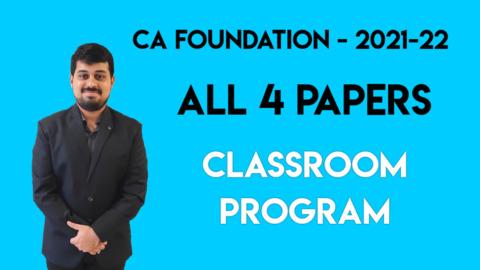CA Foundation Nov. 2021 / May 2022