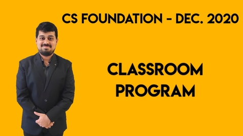 CS Foundation - December 2020 - Classroom Program