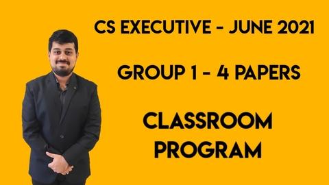 CS Executive - Classroom Program - Group 1 - All 4 Subjects - June 2021