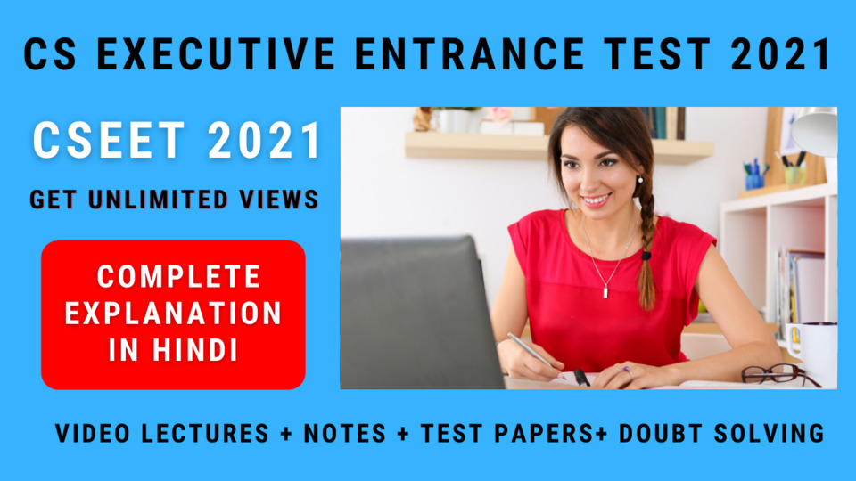 CS Executive Entrance Test (CSEET) - 2021 - Hindi